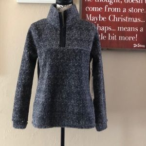 NWT Caslon Heathered Gray 1/4 zip Cozy Pullover